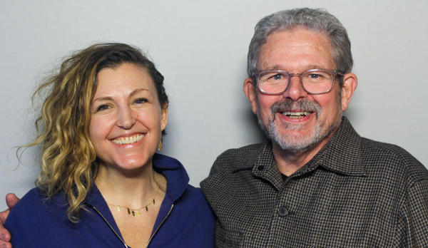 Kate Quarfordt and Kevin Craw at their StoryCorps interview in New York.