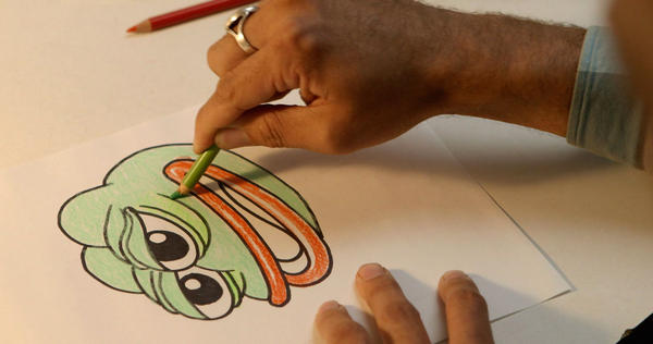 Cartoonist Matt Furie sketches out his creation, Pepe the Frog. The new documentary <em>Feels Good Man</em> shows how the frog went from innocent cartoon character to powerful political tool.