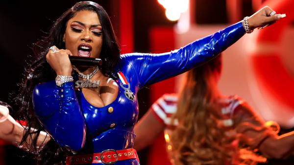 Megan Thee Stallion performs at the BET Hip Hop Awards in October 2019.
