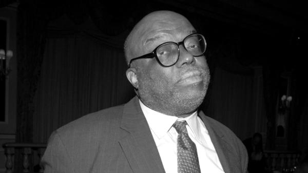 Stanley Crouch, photographed during The New School for Jazz and Contemporary Music's Beacon Awards Gala on Feb. 27, 2006 in New York.