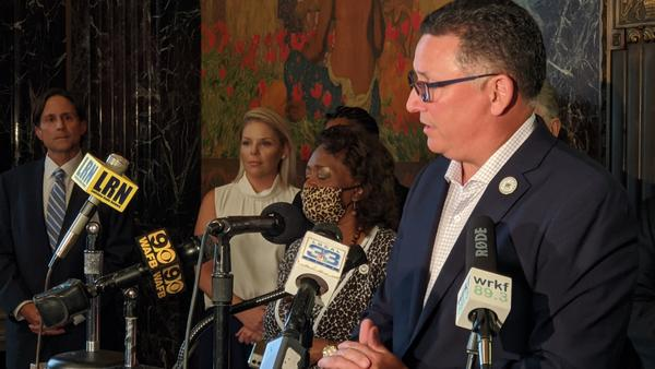 Louisiana Treasurer John Schroder briefs the media on his plans for the Main Street Recovery Program. July 1, 2020.
