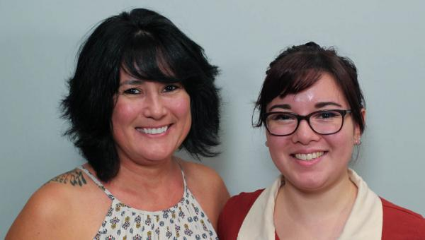 Michelle Huston, left, and her daughter, Lauren Magaña, reflected on their careers as social workers during their first interview with StoryCorps in Atlanta in 2018.