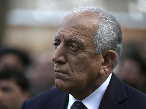 """""""This is a moment for the Afghan leaders not to repeat the mistakes of the past, to build a consensus-based system where all key players can participate, and perhaps peace in Afghanistan can change the dynamics even regionally,"""" says U.S. Special Representative for Afghanistan Reconciliation Zalmay Khalilzad, shown here in March."""