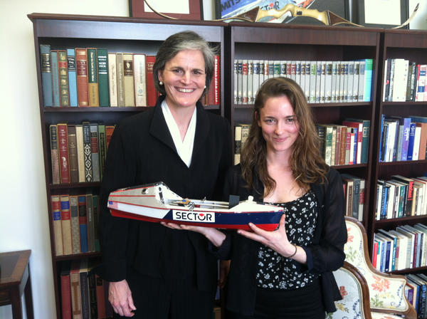 Tori Murden McClure, the first woman to row solo across the Atlantic Ocean, and singer-songwriter Dawn Landes