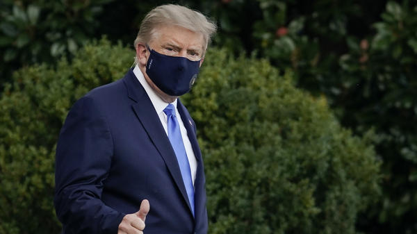 "President Trump leaves the White House on Friday for Walter Reed National Military Medical Center, where he is expected to spend a few days ""out of an abundance of caution."""