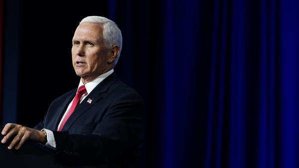 Vice President Mike Pence speaks during a Faith and Freedom Coalition policy conference on Wednesday, Sept. 30 in Atlanta.