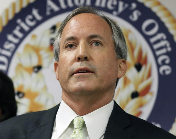 In this June 22, 2017, file photo, Texas Attorney General Ken Paxton speaks at a news conference in Dallas.