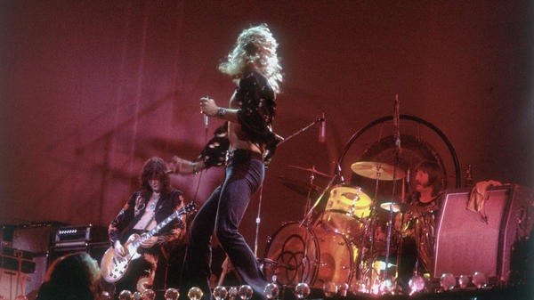 Led Zeppelin performing on stage in 1977. The band has been battling this allegation of copyright infringement since 2014.