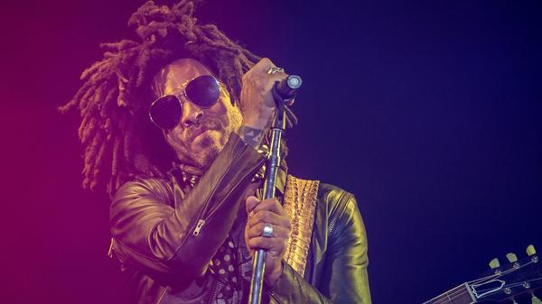 "Lenny Kravitz performs in Tours, France in 2018. He says touring is hard — and wonderful: ""Everything is about those two and a half hours on stage."""