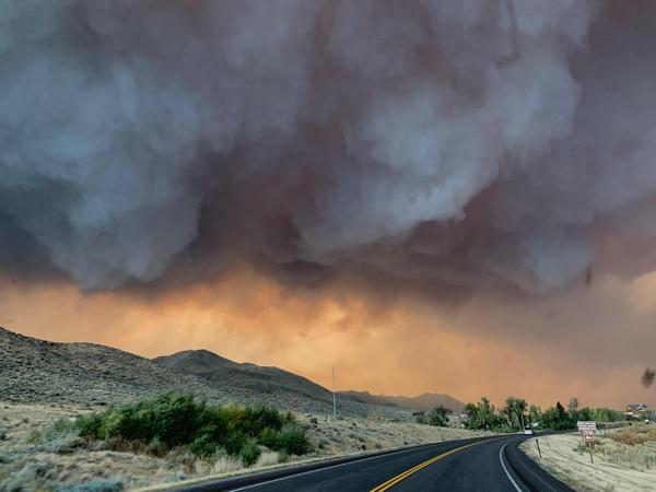 The Mullen Fire burning in the Medicine Bow National Forest in Wyoming, photographed Sept. 25.