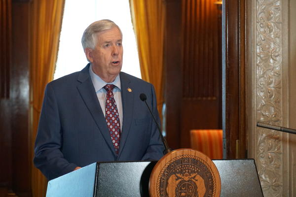 Missouri Gov. Mike Parson said at a press briefing on Wednesday that Missouri was in the top ten states with the lowest unemployment rates in the country.