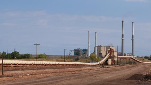 Colstrip coal-fired power plant seen from the Rosebud mine property
