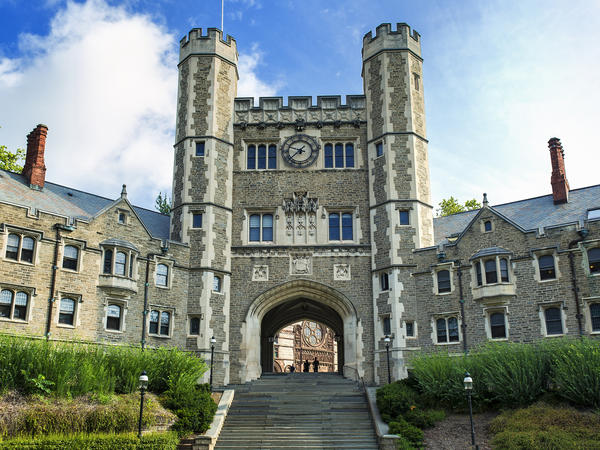 Blair Hall on the campus of Princeton University. The university has agreed to pay nearly $1 million in back pay to female full professors, but did not admit liability in the Labor Department's investigation.