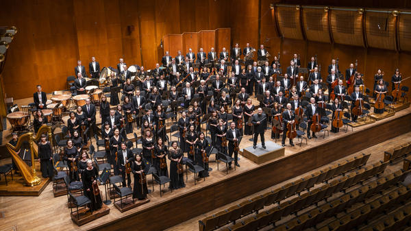 The New York Philharmonic and its music director, Jaap van Zweden.