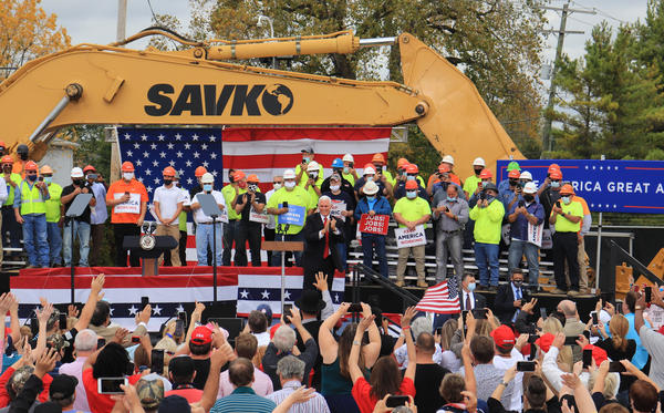 Vice President Mike Pence greeting supporters at Savko and Sons.