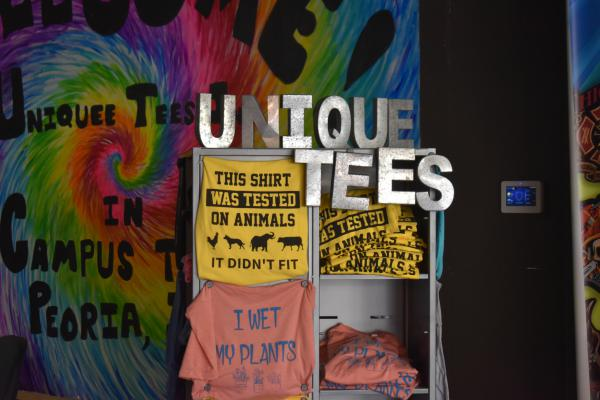 A display inside Uniquee Tees, 1200 W. Main, Suite 25.