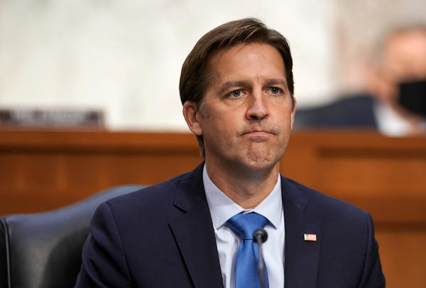 Sen. Ben Sasse, pictured here during Judge Amy Coney Barrett's Supreme Court confirmation hearing, berated President Trump in a telephone town-hall meeting with constituents.