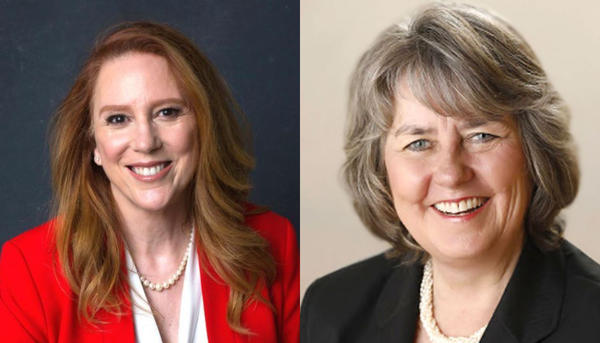 Republican Kim Wyman, left, is seeking a third term as Washington Secretary of State. Democratic challenger Gael Tarleton is seeking to unseat Wyman.