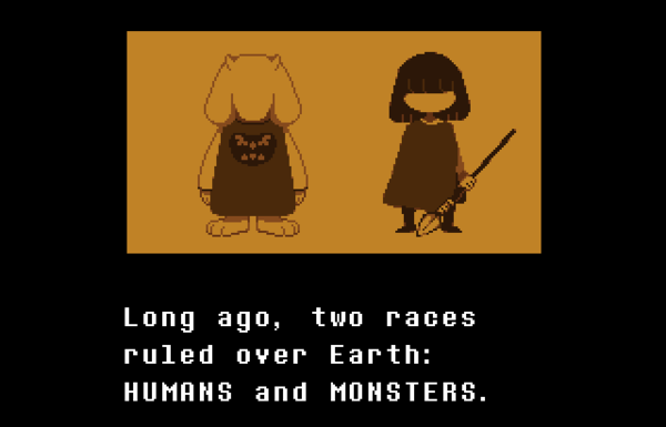 In <em>Undertale</em>, you play as a child who falls into a pit of monsters.