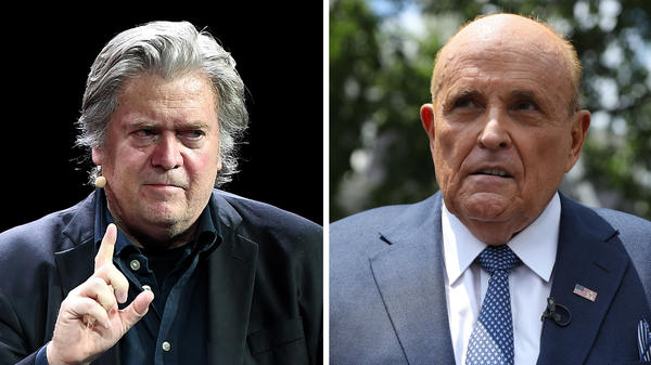 The <em>New York Post</em>'s claims about Hunter Biden relied on Steve Bannon (left), Rudy Giuliani and a heavy dose of assumptions.