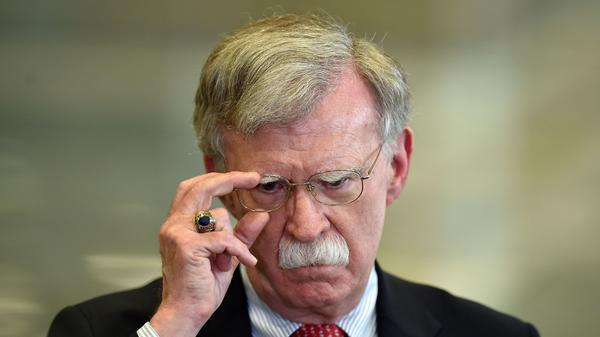 Former national security adviser John Bolton, pictured in August 2019, says the U.S. is not safer than it was four years ago.