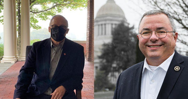One candidate embraces masks, the other shuns them. It's just one of the many differences between Washington's candidates for governor this year.