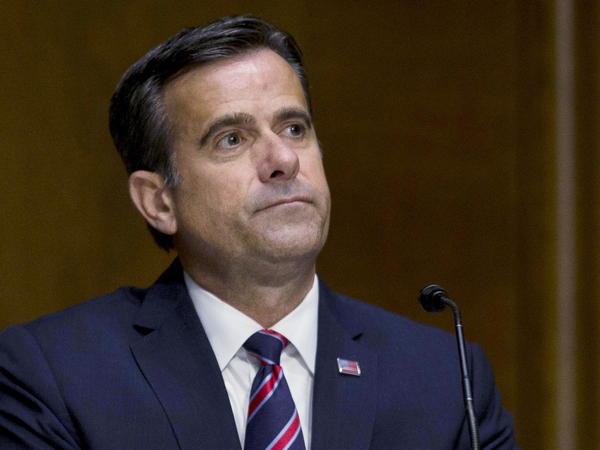 Director of National Intelligence John Ratcliffe, seen above during his earlier tenure in the House, delivered a briefing on election threats on Wednesday evening.