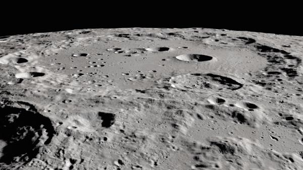 Researchers have detected water molecules in Clavius crater, in the moon's southern hemisphere. The large crater is visible from Earth.
