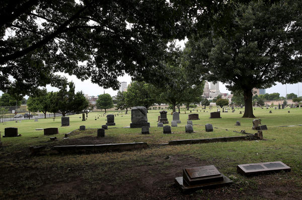 The Oaklawn Cemetery is seen on June 19, 2020 in Tulsa, Oklahoma. (Win McNamee/Getty Images)