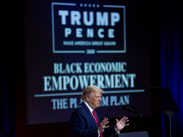 Even when President Trump unveiled his plan for Black economic empowerment, he put most of his emphasis on telling people why they shouldn't vote for his Democratic opponent, Joe Biden.