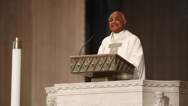 Archbishop of Washington Wilton D. Gregory delivers his homily at the National Shrine of the Immaculate Conception on May 21, 2019 in Washington, D.C. Pope Francis named Gregory as a future cardinal this week.
