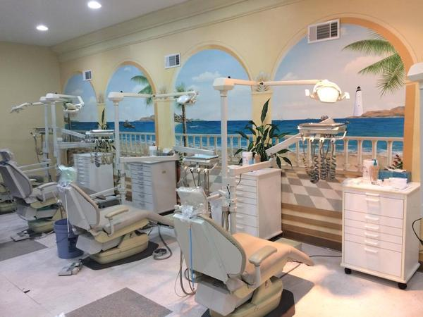 The clinic at Smiles of Hope fits ten people at a time.