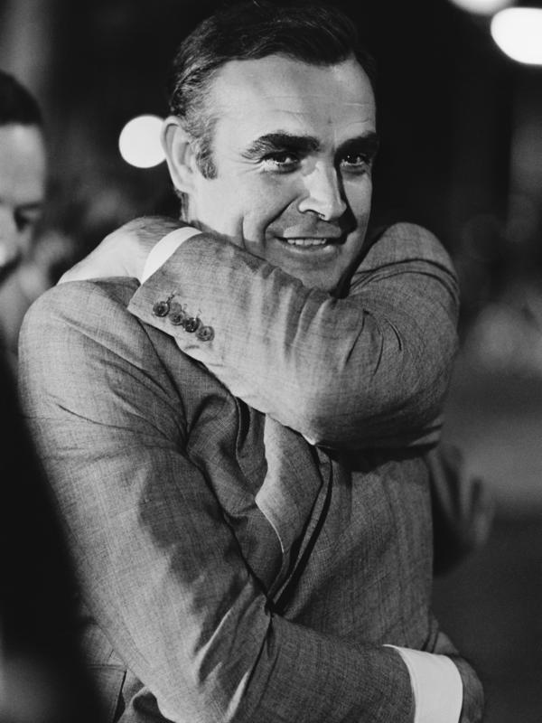 Sean Connery, pictured in Amsterdam during the 1971 filming of <em>Diamonds Are Forever</em>, played James Bond in seven movies.