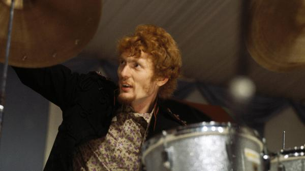 Ginger Baker, performing with Cream in 1966.