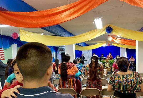 A Guatamelan church service takes place in Salem.