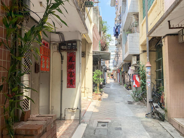 """Nam Pin Wai, a so-called """"indigenous village"""" — where residents' ancestors predated British colonial rule of Hong Kong — is steps away from the Yuen Long metro station. Nam Pin Wai is where assailants retreated after beating anti-government protesters in the station on July 21."""