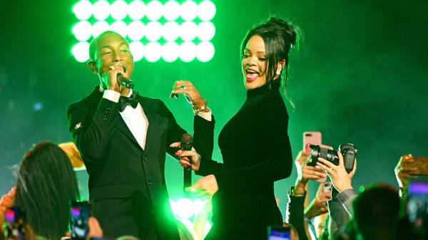 Rihanna performs with Pharrell Williams at her fifth annual Diamond Ball on Sept. 12, 2019. This January marks four years since her last full-length release.