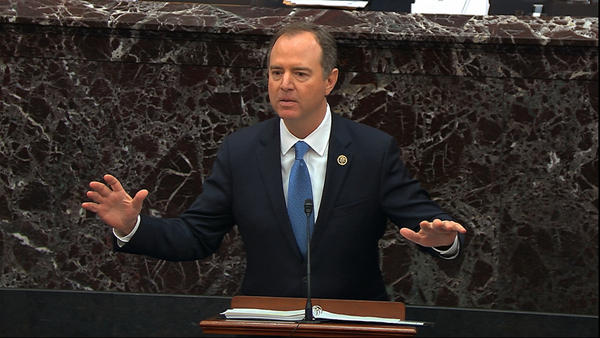 House impeachment manager Adam Schiff, D-Calif., tries to convince senators that President Trump should be removed from office.
