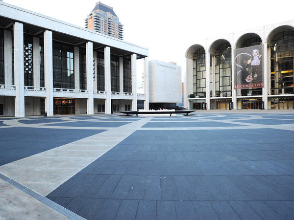 An empty Lincoln Center will be a much more common sight over the coming weeks; all its constituent organizations have all closed temporarily due to coronavirus worries.