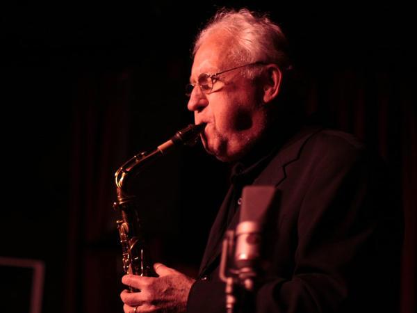 Saxophonist Lee Konitz, playing at New York's Village Vanguard in 2010.