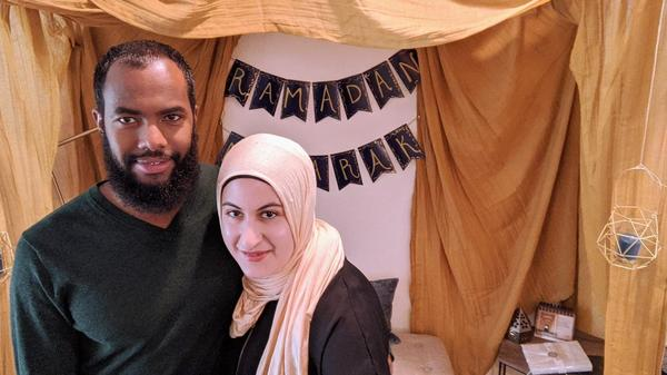 Sarah Alfaham and her husband Mohamed Ahmed decorated their home for Ramadan.