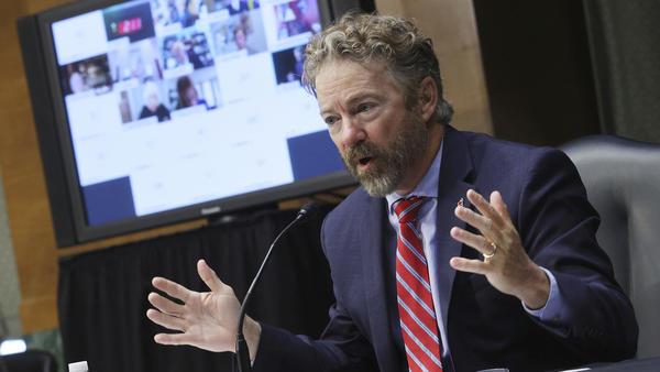 Sen. Rand Paul, R-Ky., speaks at a hearing held by the Senate Committee on Health, Education, Labor and Pensions on Tuesday.