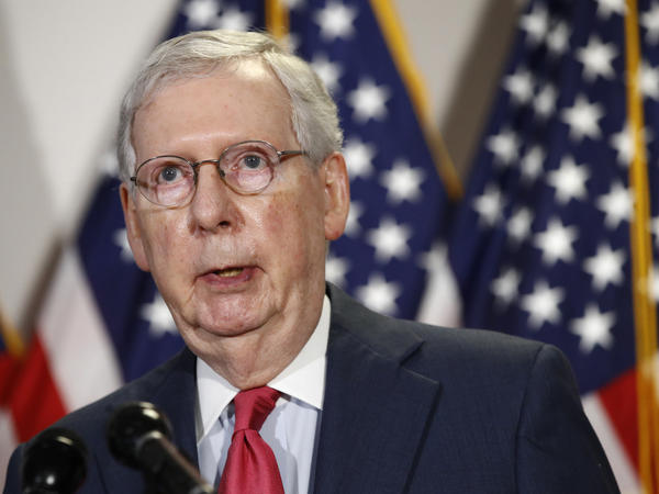 Senate Majority Leader Mitch McConnell says he does not support extending additional unemployment benefits that run out at the end of July.
