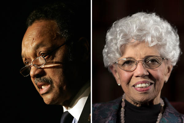 The Rev. Jesse Jackson and Josie Johnson.