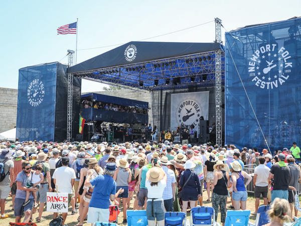 A crowd at the 2019 Newport Folk Festival in Rhode Island. The festival is a member of NIVA, an advocacy association of independent music venues and presenters.