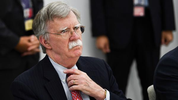John Bolton, pictured in June 2019 in Japan, talked with NPR about his time in the White House as national security adviser.