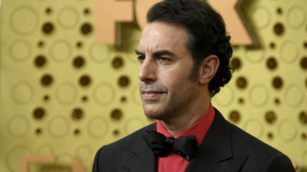 Sacha Baron Cohen, at the Emmys in 2019, is suspected of being behind a prank on a far-right group.