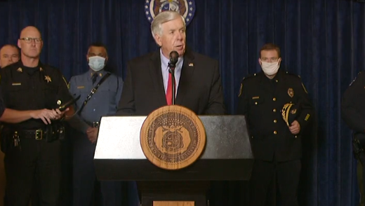 Surrounded by law enforcement from across the state, Missouri Gov. Mike Parson announced a special legislative session to address violent crime beginning July 27.