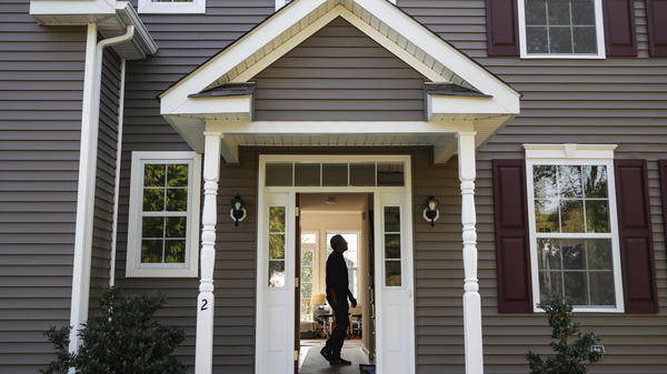 A new homeowner tours his new place in Washingtonville, N.Y., this month.
