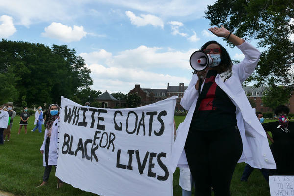 Dr. Victoria Thomas organized a White Coats for Black Lives march in June to bring awareness to racial disparities in the medical community.